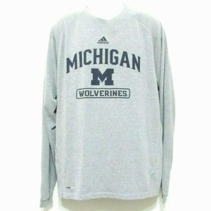 Adidas Michigan Wolverines Long Sleeve Shirt